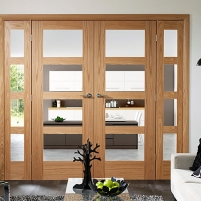 Easiframe oak room divider