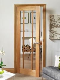 Worcester internal oak glazed door