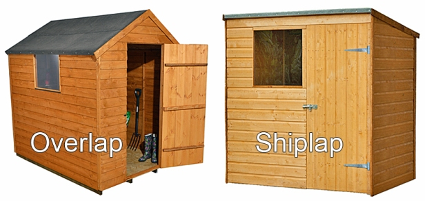 Overlap and shiplap sheds